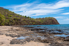 Rocky coast of papagayo golf Royalty Free Stock Photography