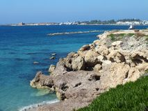 Rocky Coast Paphos Stock Photography