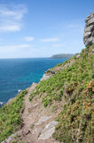 Rocky coast path Stock Photo