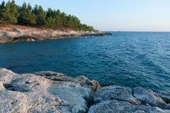 Rocky coast on peninsula Kamenjak in Croatia Royalty Free Stock Image
