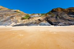 Rocky Coast in Portugal Royalty Free Stock Images