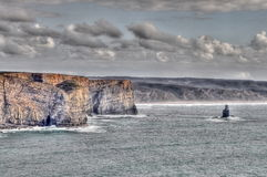 Rocky coast of Portugal Stock Photography