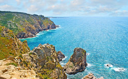 The rocky coast of Portugal Stock Images