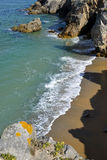 Rocky coast at Quiberon peninsula in France Royalty Free Stock Images