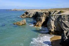 Rocky coast at Quiberon peninsula in France Royalty Free Stock Photo