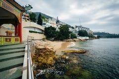 Rocky coast at Repulse Bay, in Hong Kong, Hong Kong. Stock Image