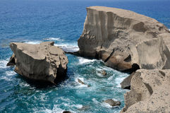 Rocky coast of San Miguel at Tenerife Royalty Free Stock Photography