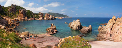 The rocky coast of Sardinia royalty free stock photography