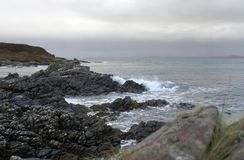 Rocky coast in Scotland Royalty Free Stock Photos