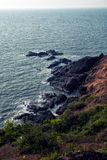 Rocky coast and sea. Rocky coast and clear turquoise sea Royalty Free Stock Image