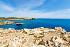 Rocky coast and the sea the island of Majorca, Spain Royalty Free Stock Image