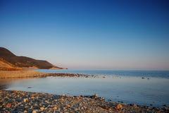 The rocky coast of the sea. Royalty Free Stock Photos