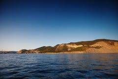 The rocky coast of the sea. Royalty Free Stock Photo