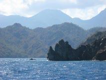 Rocky coast and seascape near Olympos, Turkey Royalty Free Stock Photos