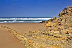 The rocky coast seen in Portugal Royalty Free Stock Photo