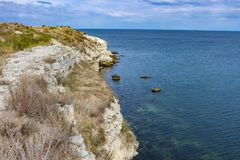 Rocky coast in Sevastopol, Crimea royalty free stock photo