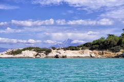 Rocky coast in Sithonia, Chalkidiki, Greece Stock Images