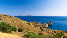 Rocky coast at south side of Crete island Stock Photo