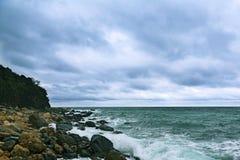 Rocky coast of the southern coast of Crimea Royalty Free Stock Image