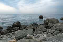 Rocky coast of the southern coast of Crimea Stock Photo