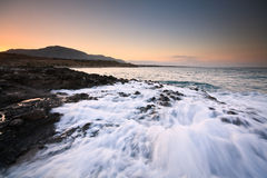 Rocky coast in southern Crete. Royalty Free Stock Photos