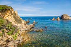 Rocky coast of Spain. Galicia Stock Image