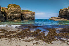 Rocky coast of Spain. Galicia Royalty Free Stock Image