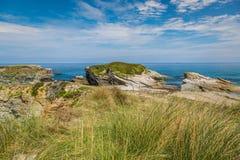Rocky coast of Spain. Galicia Stock Photography