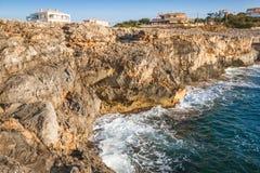 Rocky coast of the Spanish island Mallorca. Rocky coast of the Spanish island Mallorca, Europe Royalty Free Stock Image