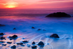 Rocky Coast Sunset Royalty Free Stock Image