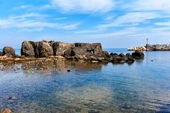 Rocky coast of Tabarca island. Spain Stock Photos