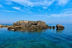 Rocky coast of Tabarca island. Spain Stock Image