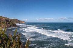 Rocky coast of Tasman sea, New Zealand Royalty Free Stock Photo