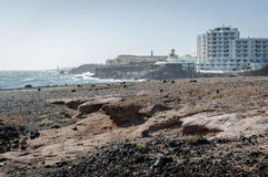 Rocky coast of Tenerife Royalty Free Stock Image