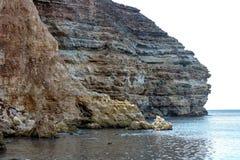 The rocky coast stock photography