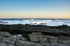 Rocky coast of Tsitsikamma national park,  South Africa Royalty Free Stock Photos