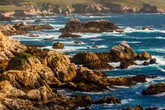 Rocky Coast. Turbulent Waters At Soberanes Cove in Big Sur royalty free stock photos