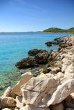 Rocky coast of the turquoise sea, Croatia Dalmatia Stock Photos