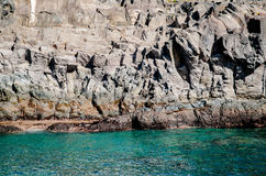 Rocky coast and turquoise water Royalty Free Stock Photography