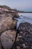 Rocky Coast von Acadia oben schauen Lizenzfreie Stockbilder