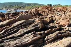 Rocky Coast at Yallingup Royalty Free Stock Photo