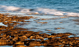 Rocky coastal beach Stock Image