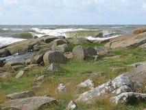 Rocky coastal landscape Stock Images