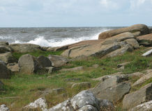 Rocky coastal landscape Royalty Free Stock Photo
