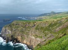Rocky coastal scenery at the Azores Stock Images