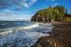 Rocky coastline. Beach off the coast of Maine Royalty Free Stock Photos