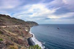 Rocky coastline of Atlantic ocean at Tenerife island, Spain Royalty Free Stock Photos