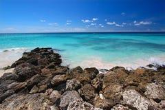 Rocky coastline of Barbados Stock Photo