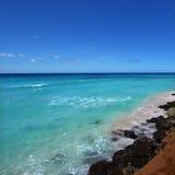 Rocky coastline of Barbados Stock Photography