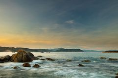 Rocky Coastline Bay Vietnam Royalty Free Stock Photography